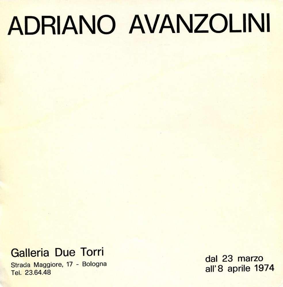 Galleria d'arte due Torri - Bologna (1974)