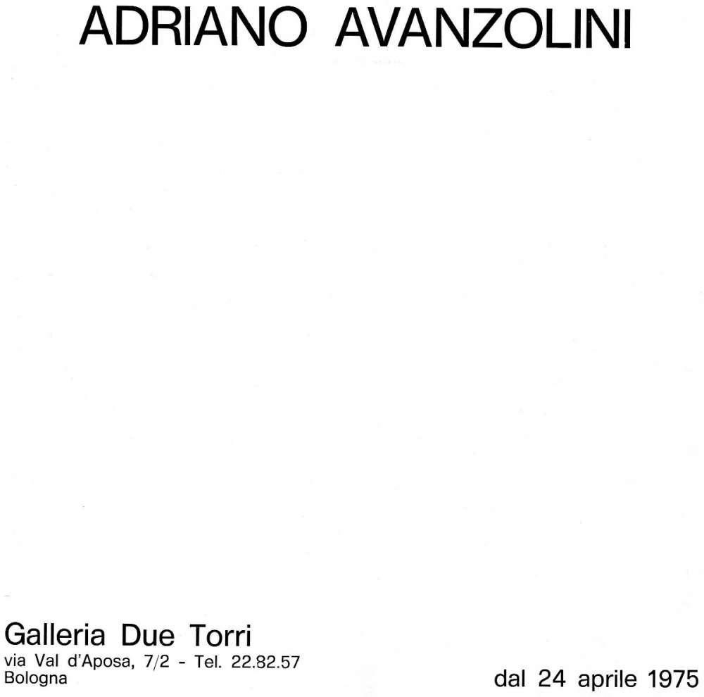 Galleria d'arte due Torri - Bologna (1975)