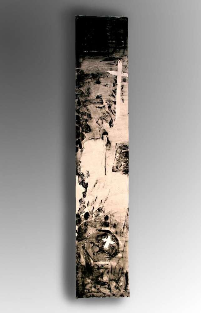 Il tempo che cambia n.8 - Acrilico su carta - cm 270x50