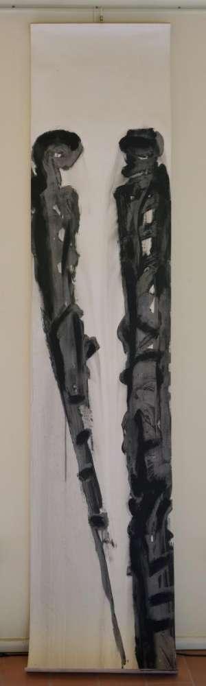 Sembianti - Acrilico su carta - cm 260x50