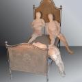 Ferro e fuoco -  Terracotta e ferro - cm 170hx210x100