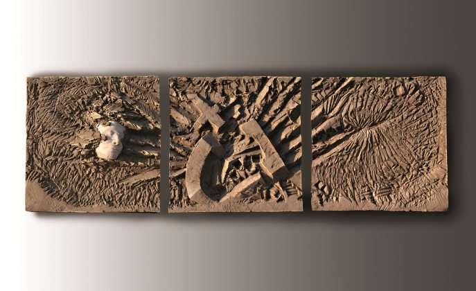 Temporanee tracce - Terracotta - cm 192x60