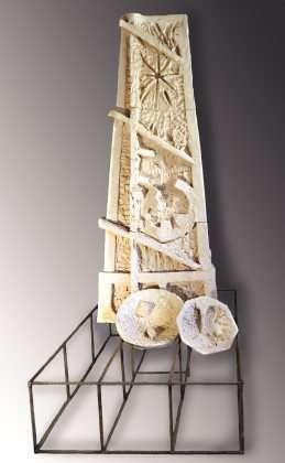 Il cesto e il monte - Terracotta e ferro - cm 240x110