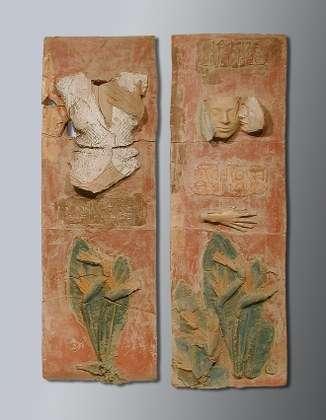 Seianti Thaunia - Terracotta dipinta - cm 152x90