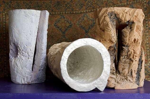 Vuoti preziosi - vasi di terracotta, ceramica, platino - cm 42 diametro