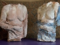 Purtroppo angeli - Terracotta dipinta - cm 38x35x40 ciascun busto