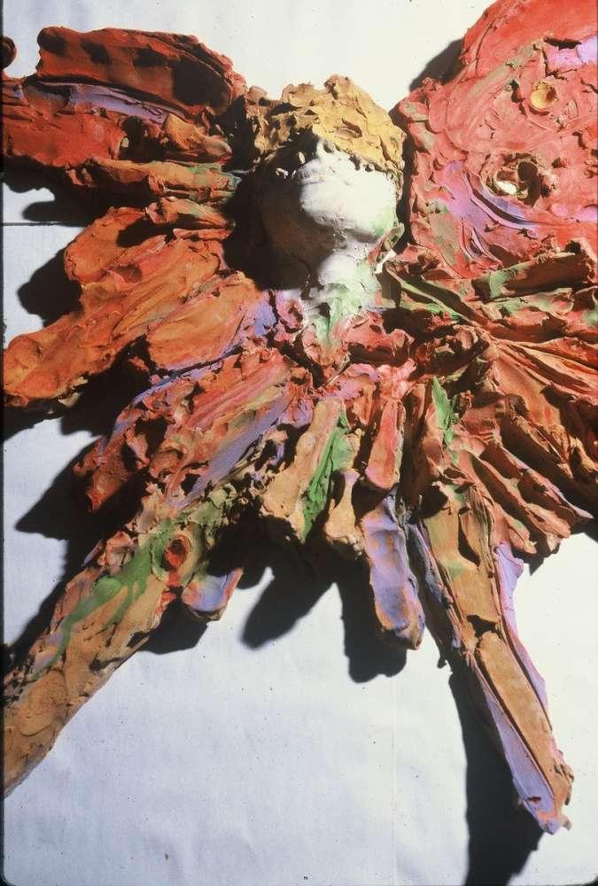 Ispirazione - Terracotta dipinta - cm 60x45x15
