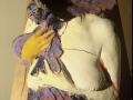 Corpo in volo - Terracotta dipinta - cm 70x40