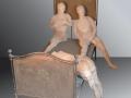Ferro e fuoco - Terracotta e ferro - cm 170x210x100