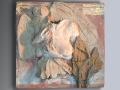 Magie notturne - Terracotta dipinta - cm 73x73,5