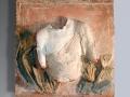 Cruda terra - Terracotta dipinta - cm 74x73,5
