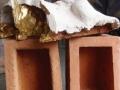 Memoria - Terracotta e oro - cm 85x50x39