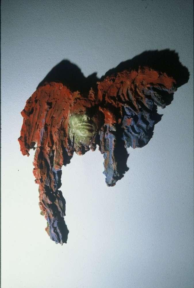 Volo d'uccello - Terracotta dipinta - cm 60x60
