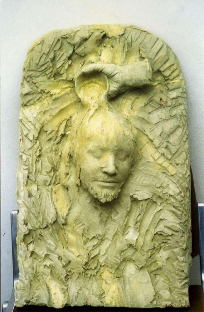 Il battesimo di Gesù - Terracotta - cm 50x40